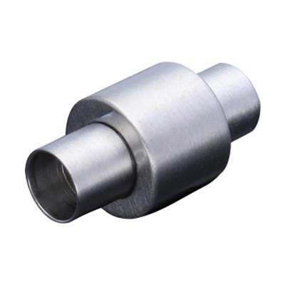 Magnetverschluss, 4mm, 19x10mm, Edelstahl, platinfarben matt
