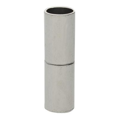 Magnetverschluss, 5mm, 20x6mm, Metall, platinfarben