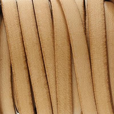 Flachriemen, Rindsleder, 100cm, ca. 5x1,5mm, NATUR