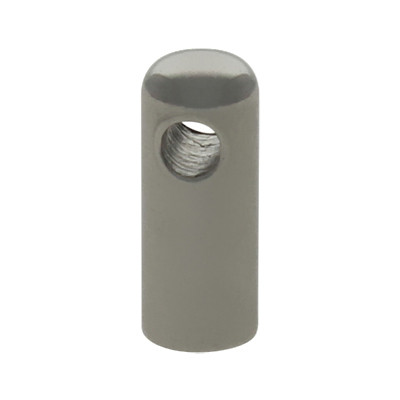 Endkappe mit Öse, 7,5x3mm, Loch-Ø 2,5mm, Edelstahl, stahlfarben