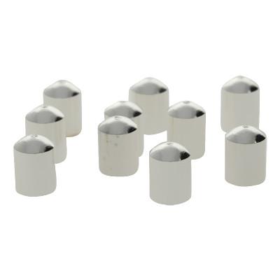 Schmuckkappe (10 Stück), 7x5mm, Loch-Ø 4,4mm, Metall, versilbert