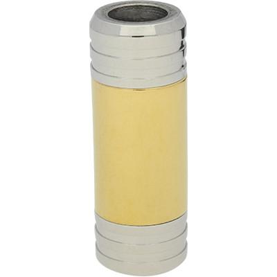 Magnetverschluss, 6mm, 28x10mm, Edelstahl, gold-silber