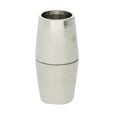 Magnetverschluss, 5mm, 16x8mm, Metall, silberfarben