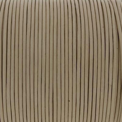 Rundriemen, Lederschnur, 100cm, 1,5mm, NATUR