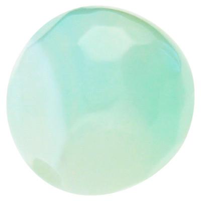 Perle, innen 1mm, Ø 8mm, pastellgrün gefärbter Achat, facettiert