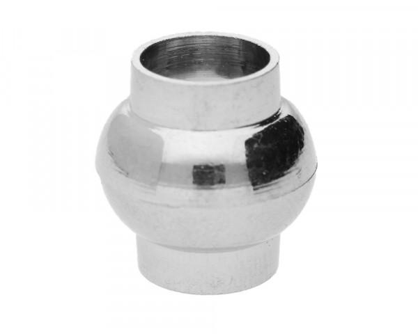 Magnetverschluss, 8mm, 14x14mm, Metall, silberfarben