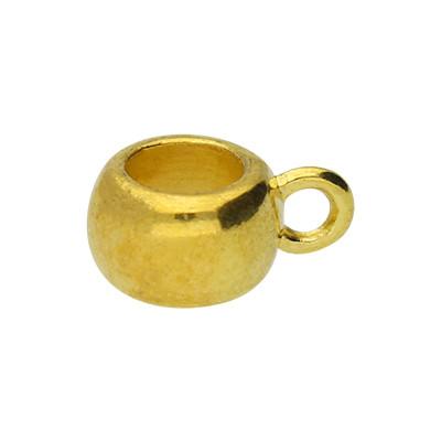 Anhängerhalter rund (2 Stück), innen 4,8mm, 8x5,5mm, goldfarben, Metall