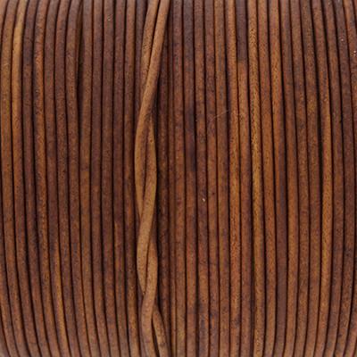 Rundriemen, Lederschnur, 100cm, 2mm, VINTAGE GINGER BREAD
