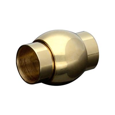 Magnetverschluss, 6mm, 13x10mm, Edelstahl, goldfarben