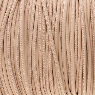 Premium Nappaleder rund gesäumt, 100cm, 4mm, ROSÉ CHAMPAGNER