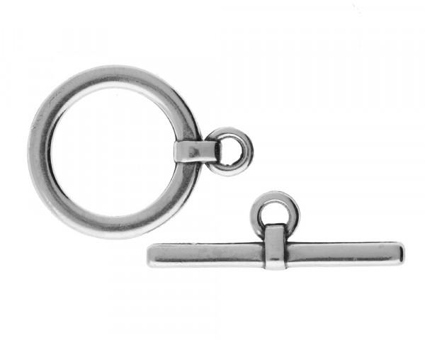 Knebelverschluss versilbert glänzend - 22 x 29 mm | 10 x 32 mm | 4002.9
