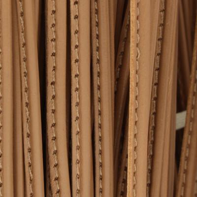 Nappaleder oval gesäumt, 100cm, 3.5 x 2mm, CAPPUCCINO