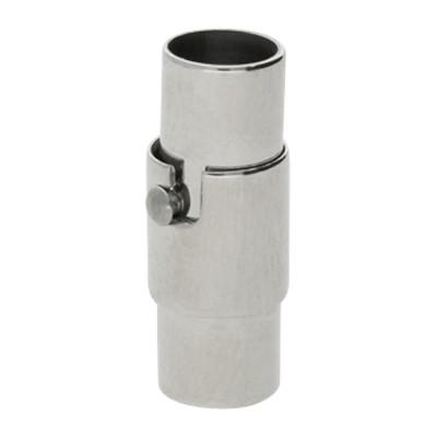 Magnetverschluss, 5mm, 18x7mm, Edelstahl, Platinfarben