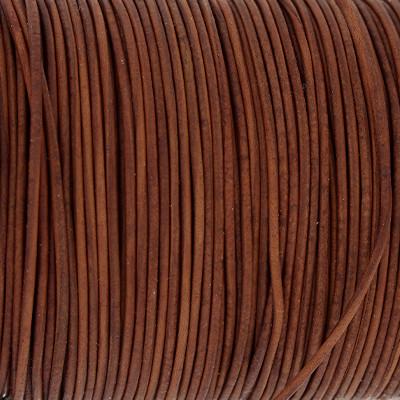 Rundriemen, Lederschnur, 100cm, 1mm, VINTAGE TANDORI SPICE