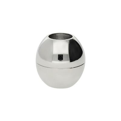 Magnetverschluss, 6mm, 13x13mm, Edelstahl, platinfarben