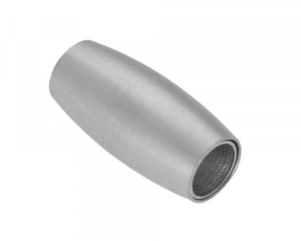 Magnetverschluss, 6mm, 21x10mm, Edelstahl, silberfarben, matt