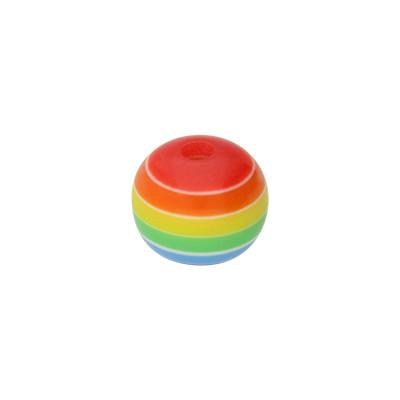 Großlochperle, 7x8mm, innen 1,8mm, multicolor, Acryl