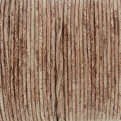Rundriemen, Lederschnur, 100cm, 1mm, BRAUN meliert