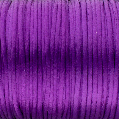 Satinband, Satinkordel, rund (100cm), 2,0mm breit, lila