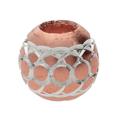 Grosslochperle, innen 4,5mm, 11x10mm, roséfarben, Aluminium