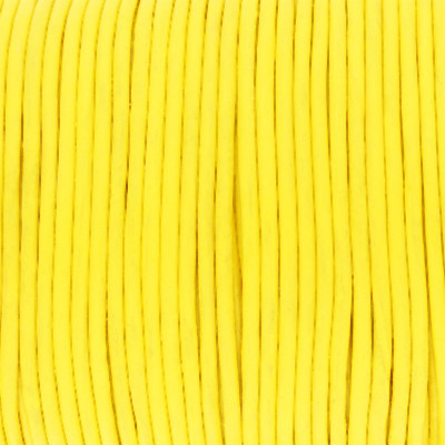 Rundriemen, Lederschnur, 100cm, 1,5mm, GELB