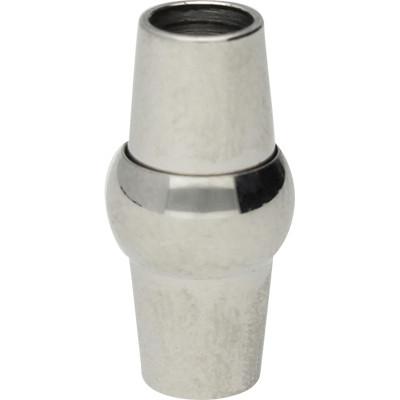 Magnetverschluss, 4mm, 15,5x7,5mm, Edelstahl, silberfarben