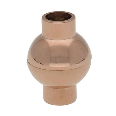 Magnetverschluss, 5mm, 17x13mm, Edelstahl, Rosé Gold