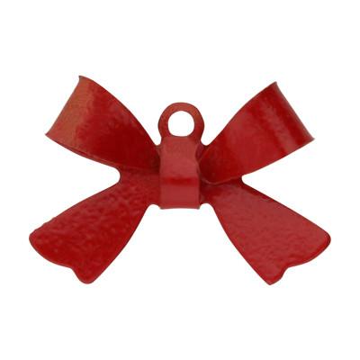 Anhänger, Schleife, 15x10mm, rot, Metall