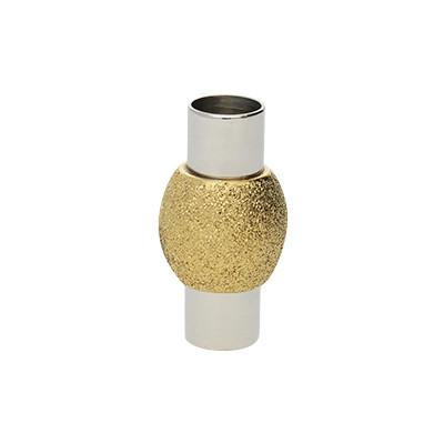 Magnetverschluss, 5mm, 10X19mm, Edelstahl, gold & silberfarben