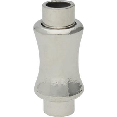 Magnetverschluss, 3,5mm, 8x18mm, Metall, silberfarben