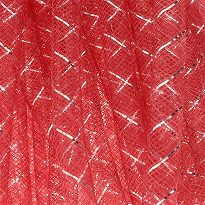 Mesh-Schlauch, Kunststoff, 9mm, 100cm, rot