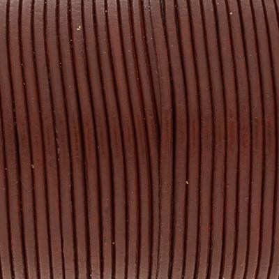 Rundriemen, Lederschnur, 100cm, 2mm, ROSTROT