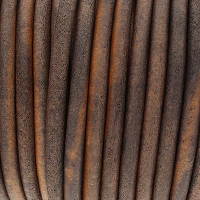 Rundriemen, Lederschnur, 100cm, 5mm, VINTAGE DUNKELGRAU