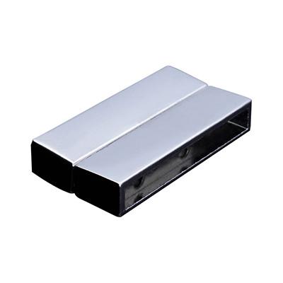 II. Wahl, Magnetverschluss, 34x4mm, 37x20x7mm, Metall, silberfarben