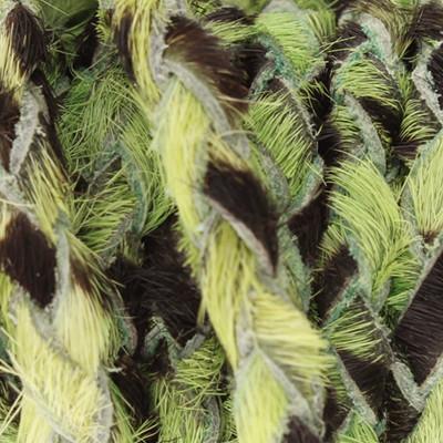 Geflochtenes Lederband, 1 Meter, 5mm breit - ELEKTRO GRÜN