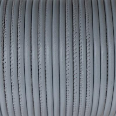 Nappaleder rund gesäumt, 100cm, 4mm, HELLGRAU