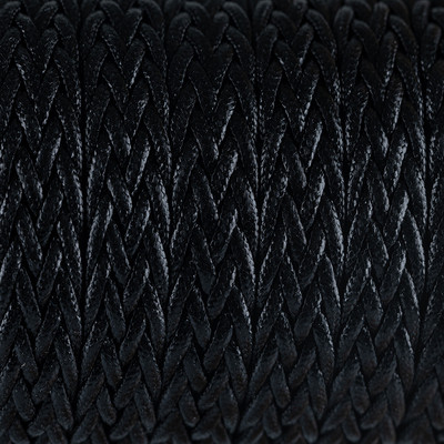 Flachriemen, Baumwolle, geflochten, 16,0 x 3,5mm, Schwarz