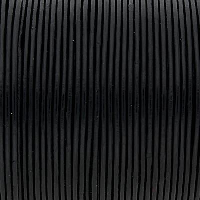 Rundriemen, Lederschnur, 100cm, 1mm, SCHWARZ