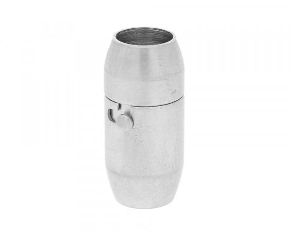Magnetverschluss, innen 6mm, 19x9x9,5mm, Edelstahl, matt