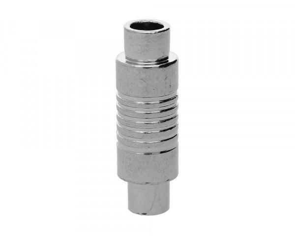 Magnetverschluss, innen 4mm, 22x7mm, platinfarben, Metall