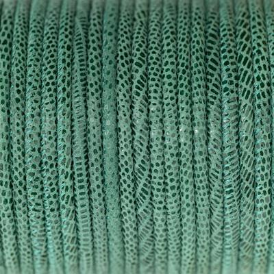 Nappaleder rund gesäumt, 100cm, 4mm, SALVIA Echsenprägung