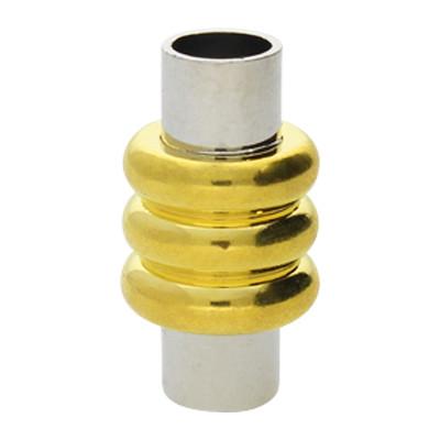 Magnetverschluss, 5mm, 20x11mm, Metall, gold- & silberfarben
