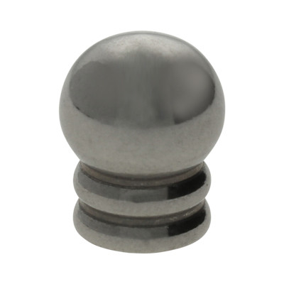 Schmuckkappe , 11x9mm, Loch-Ø 5,0mm, Edelstahl, stahlfarben