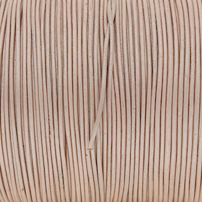 Rundriemen, Lederschnur, 100cm, 1mm, METALLIC CAMEO ROSE