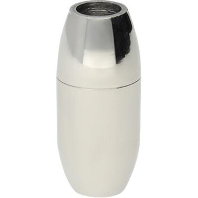 Magnetverschluss, 4mm, 18x8mm, Edelstahl, silberfarben