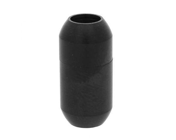 Magnetverschluss, 5mm, 18x9mm, Edelstahl matt, schwarz