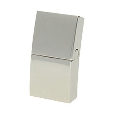 Magnetverschluss, 21x11x5mm, innen 10x2,5mm, Edelstahl, silberfarben
