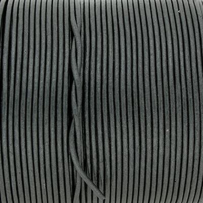 Rundriemen, Lederschnur, 100cm, 1,5mm, METALLIC URBAN CHIC