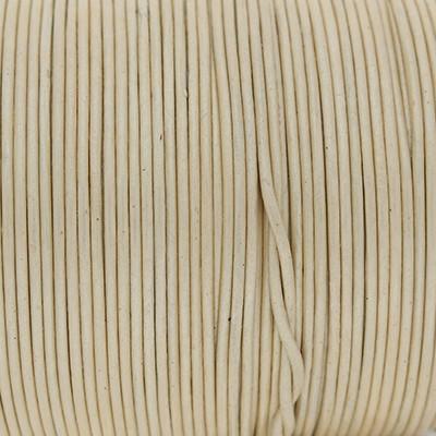 Rundriemen, Lederschnur, 100cm, 1mm, METALLIC SEEDPEARL