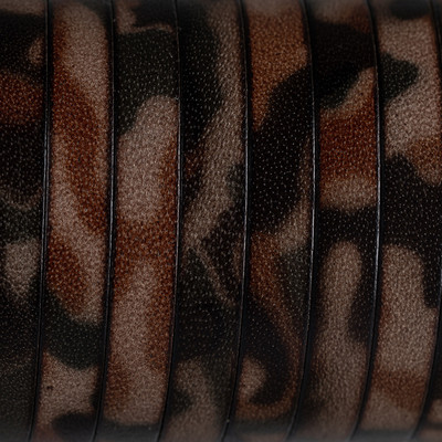 Flachriemen Rindsleder, 100cm, 10x2mm, CAMOUFLAGE